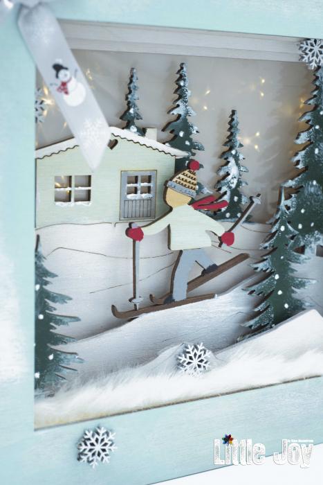 Cutie decor 3D Crăciun 2