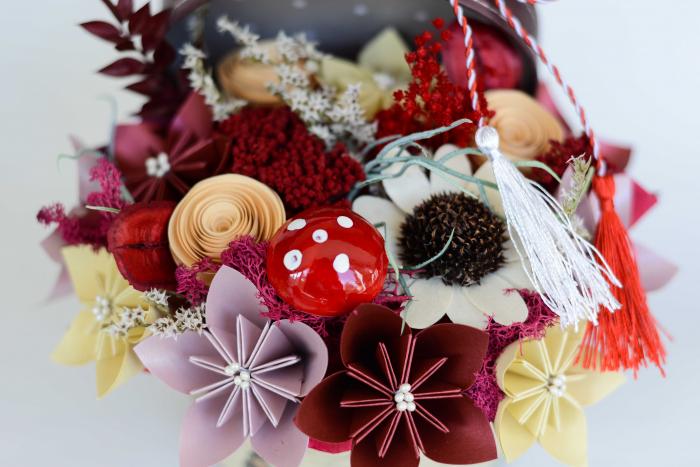 Cutie - Flori hârtie [1]
