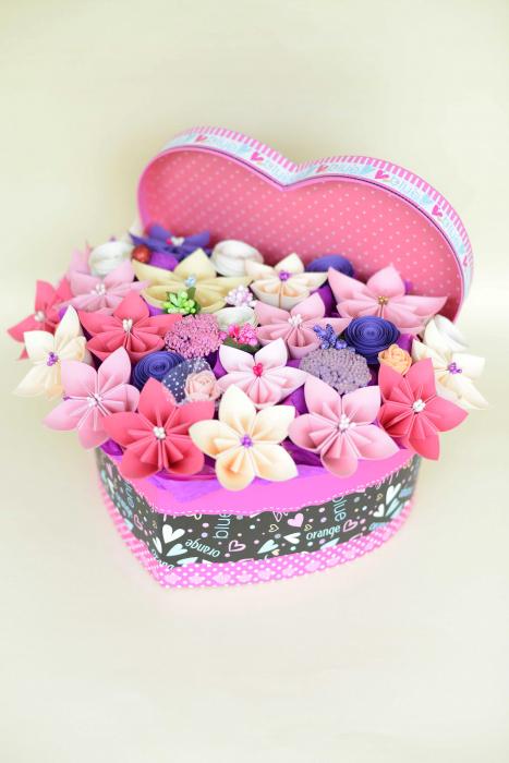 Cutie Inimă - Flori hârtie [1]