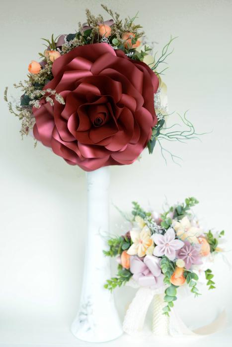 Decor masă - Vază - Flori gigant 3