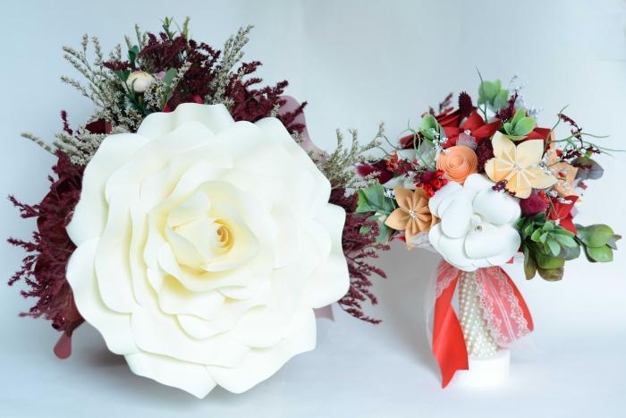 Decor masă - Ghiveci - Flori gigant 2