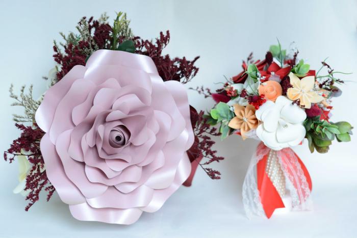 Decor masă - Ghiveci - Flori gigant 1