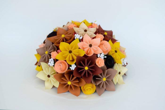 Decor masă - Semisferă flori hârtie 9