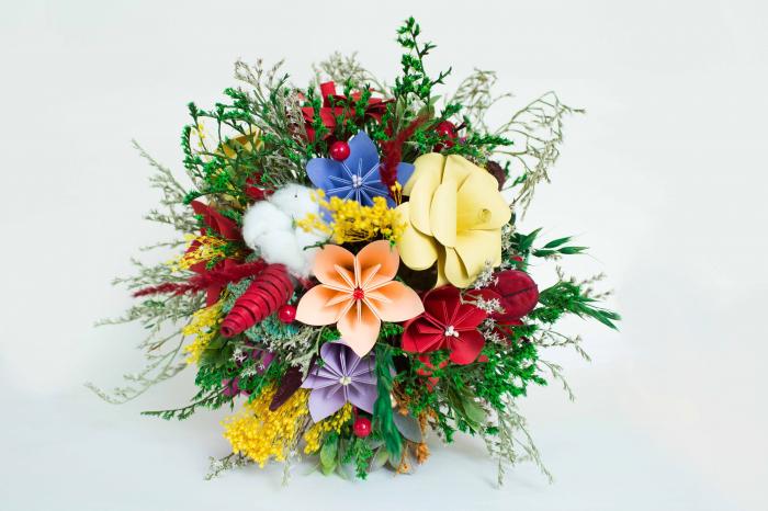 Decorațiune Vază - flori hârtie 3