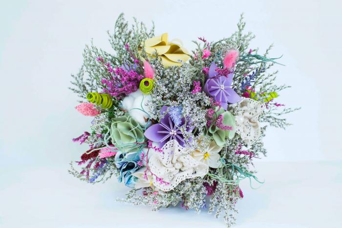 Decorațiune Vază - flori hârtie 1
