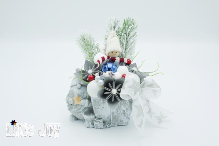 Decorațiune ghiveci ceramic Crăciun 3