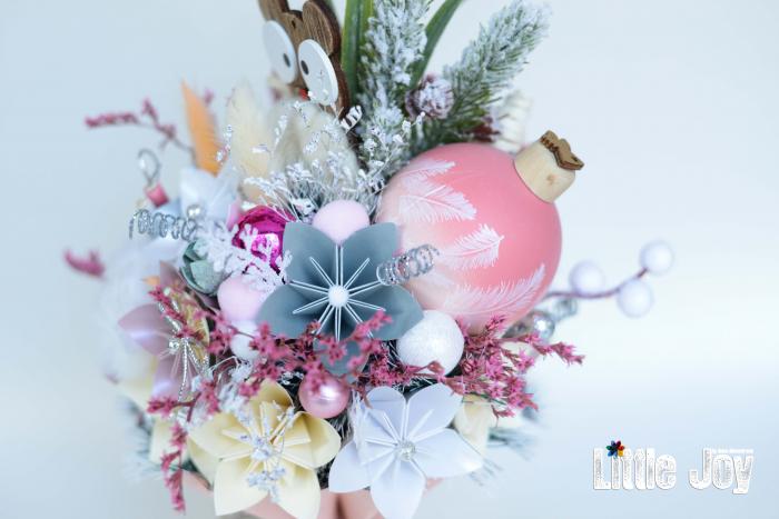 Decorațiune Crăciun - Roz 3