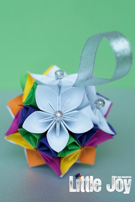 Glob Crăciun - Flori hârtie 2