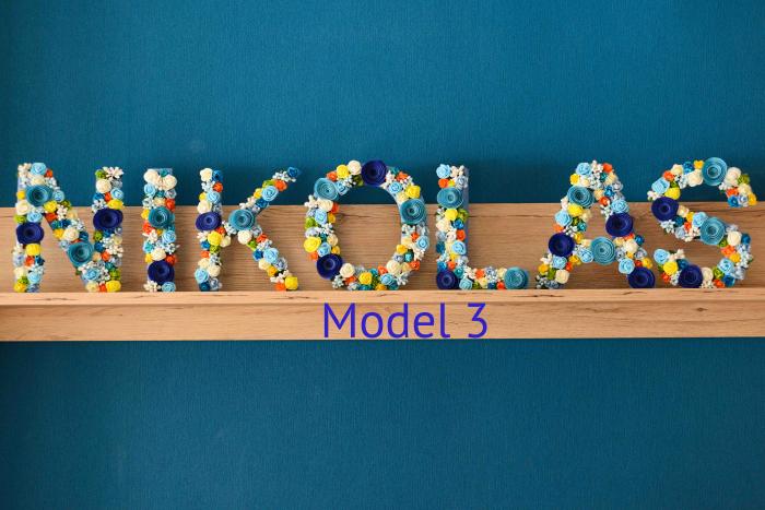 Litere decorate - Băieței 2