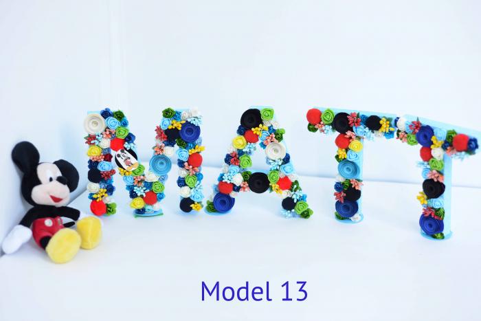 Litere decorate - Băieței 12