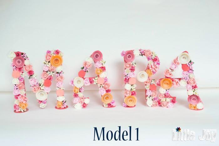 Litere decorate - Fetițe 0