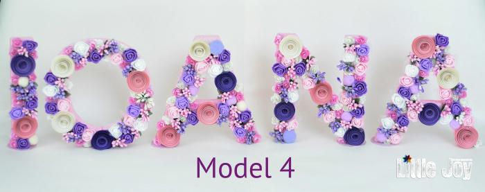 Litere decorate - Fetițe 3