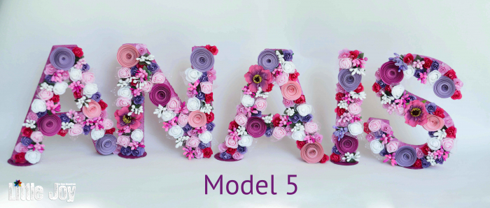 Litere decorate - Fetițe 4