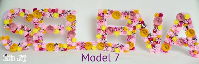 Litere decorate - Fetițe 6