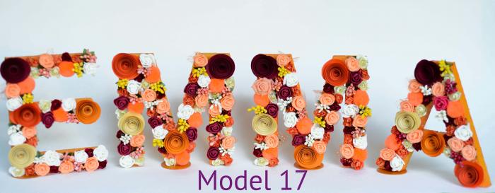 Litere decorate - Fetițe 16