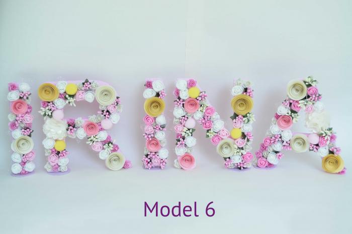 Litere decorate - Fetițe 5