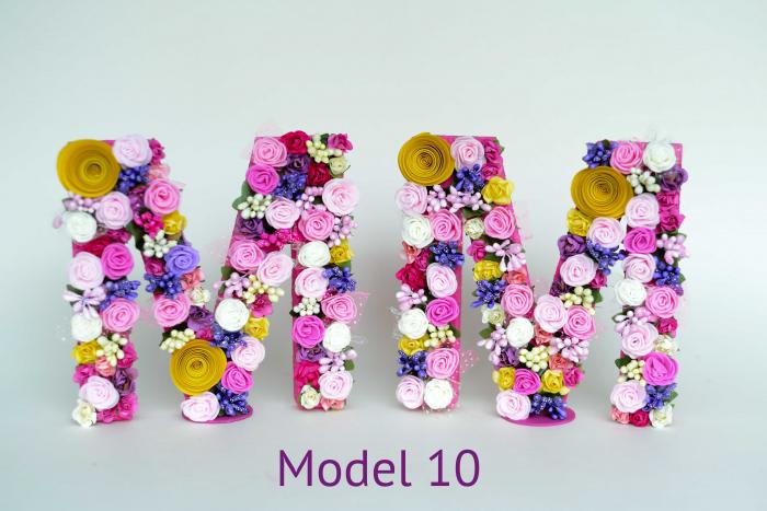 Litere decorate - Fetițe 9