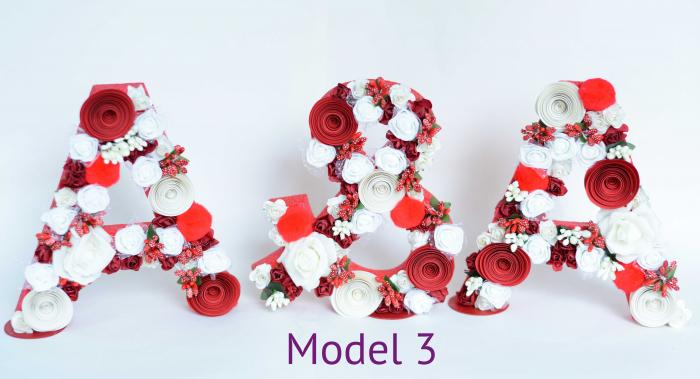 Litere decorate - Fetițe 2