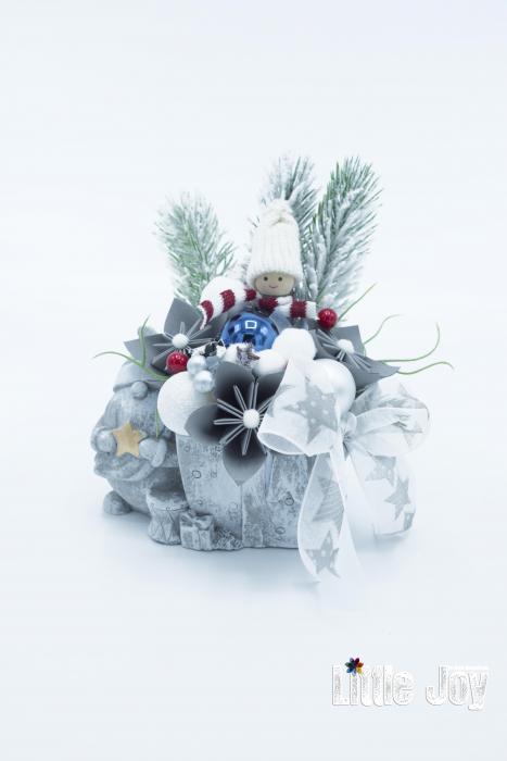 Decorațiune ghiveci ceramic Crăciun 1