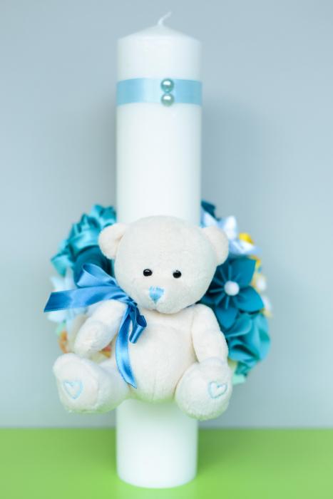 Lumânare botez personalizată -  Ursuleț 1