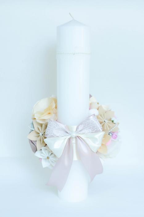 Lumânare botez personalizată - Bijuterii 2