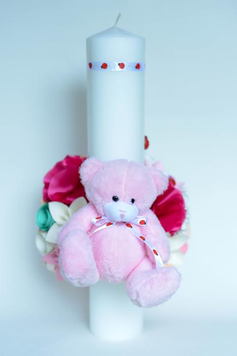 Lumânare botez personalizată - Ursuleț 2