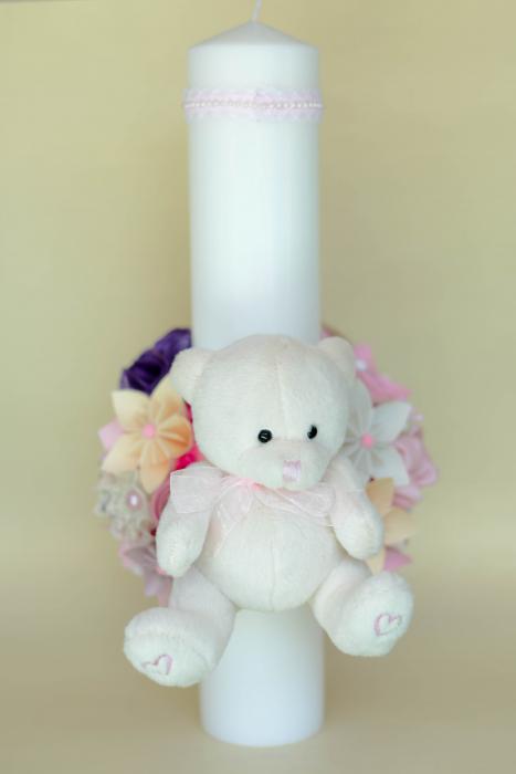 Lumânare botez personalizată - Ursuleț [3]