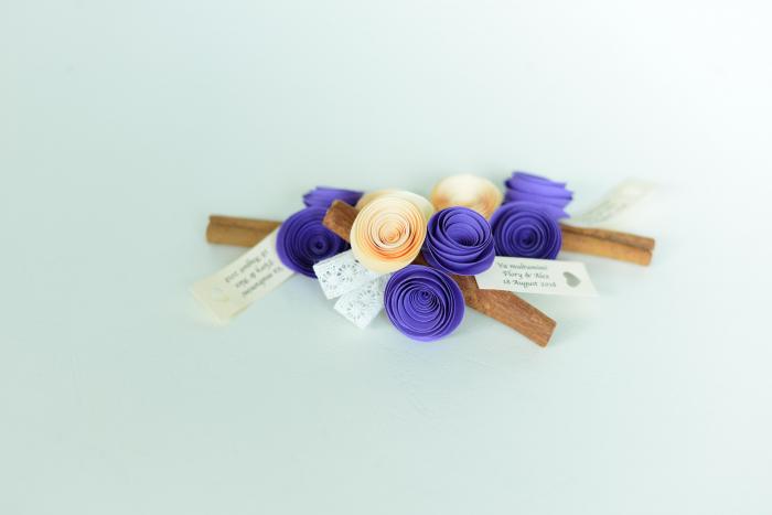 Mărturie - Băț scorțișoară flori hârtie 1