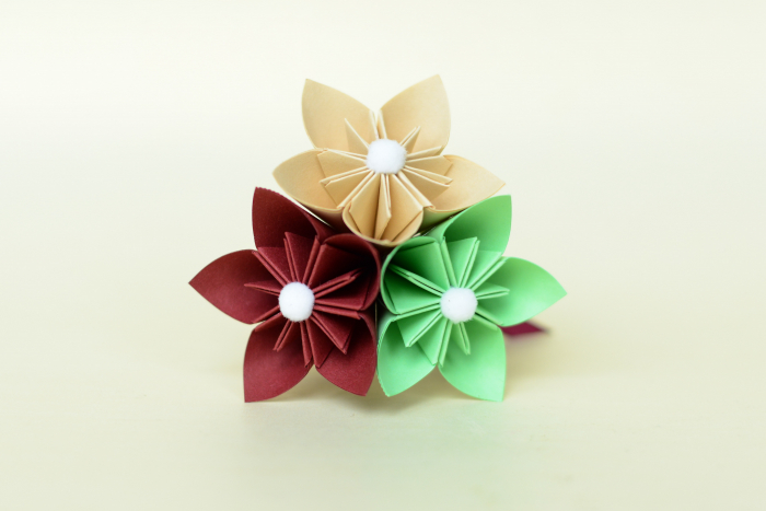 Mărturie - Sticluță flori hârtie 1