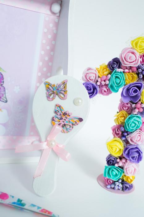 Set 1 An personalizat - Săndăluțe croșetate roz 4