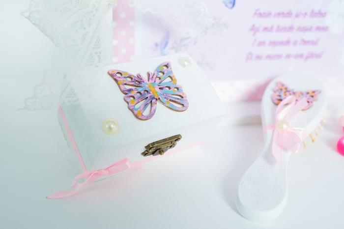 Set 1 An personalizat - Săndăluțe croșetate roz 3