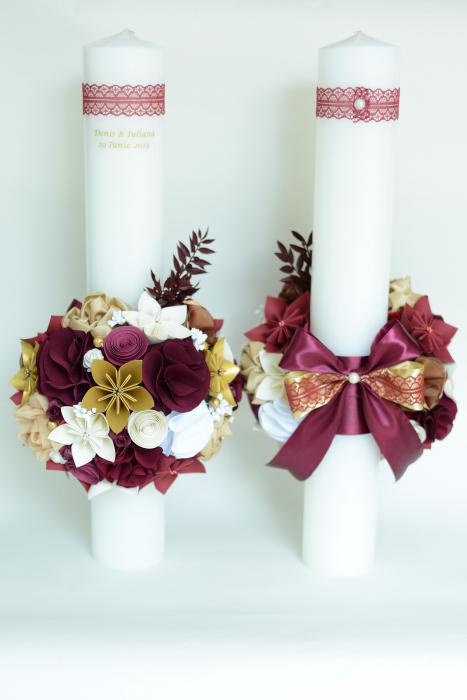 Set lumânări cununie personalizate - 50 cm 2