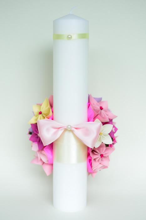 Set lumânări cununie Roz-Lila 2