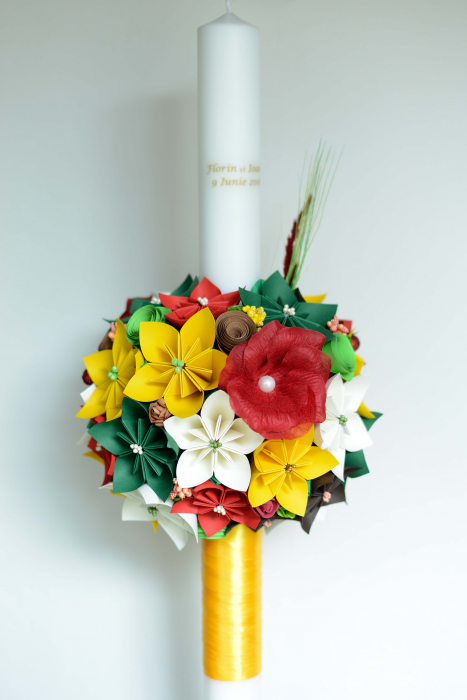 Set lumânări lungi cununie personalizate - 60 cm 0