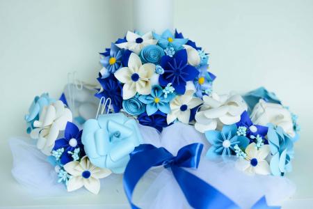 Aranjament cristelniță Bleu-Alb0
