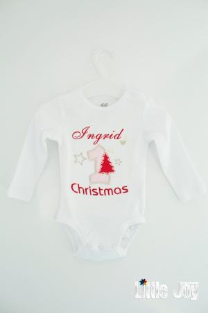 Body Brodat primul Crăciun - Ingrid0