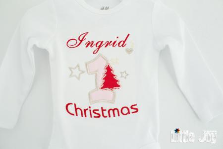 Body Brodat primul Crăciun - Ingrid1