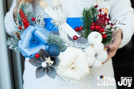 Coroniță Crăciun - Albastru1