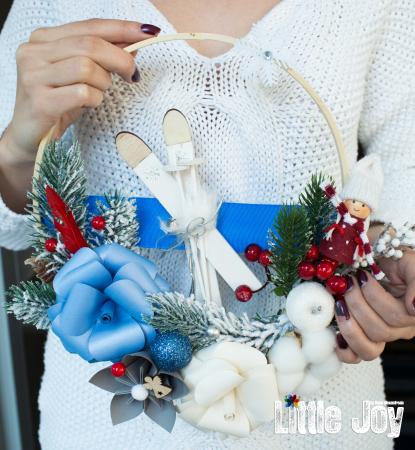 Coroniță Crăciun - Albastru0