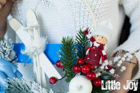 Coroniță Crăciun - Albastru2