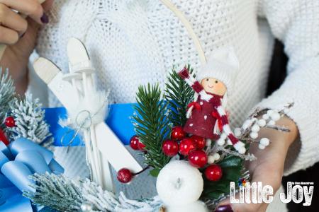 Coroniță Crăciun - Albastru3