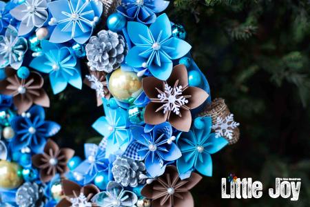 Coroniță Decor Crăciun - Bleu2