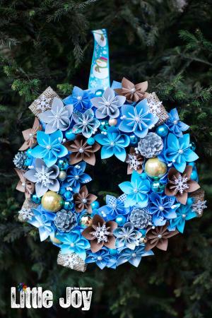 Coroniță Decor Crăciun - Bleu0