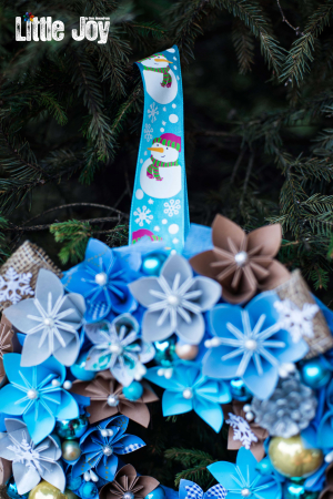 Coroniță Decor Crăciun - Bleu1