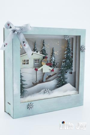 Cutie decor 3D Crăciun1