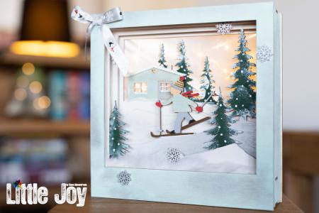 Cutie decor 3D Crăciun0