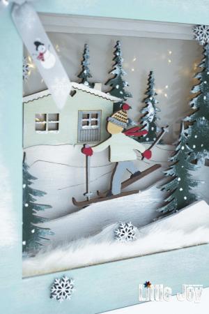 Cutie decor 3D Crăciun2