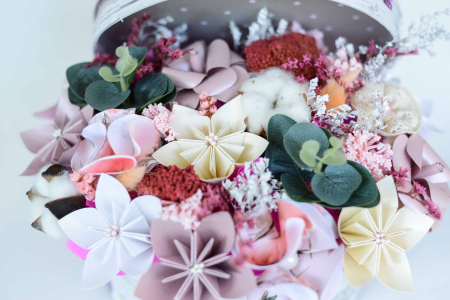 Cutie - Flori hârtie1