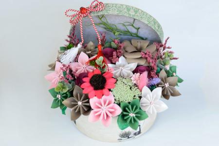 Cutie - Flori hârtie3