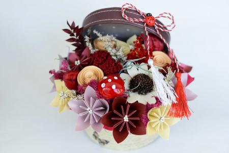 Cutie - Flori hârtie [0]